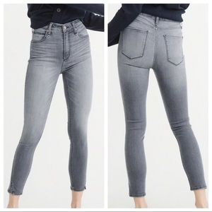 Abercrombie 27 Hi Rise Simone Ankle Stretch Jeans